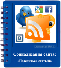 Расшаривание статей блога в соц.сети