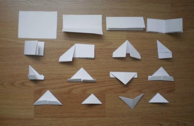 схема сборки модуля для модульного оригами