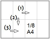 сгибаем и разрезаем лист А4