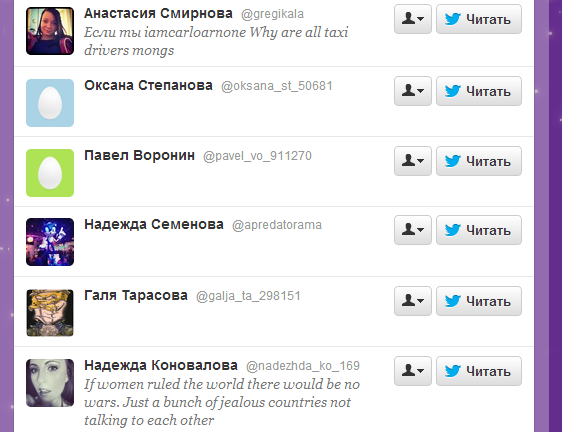 примеры раскрутки ботов в Твиттер
