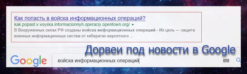 Дорвеи под новости в Google